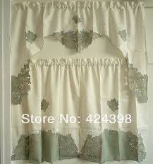Kitchen Curtains Sets Simple And Elegant Kitchen Curtains Set Of Curtain Embroidery