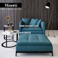 Minotti Andersen Sofa Minotti Andersen Love Chair Maxbrute Maxbrute Furniture