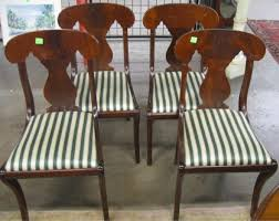 Vintage Dining Room Chairs 4 Biggs Furniture Kittinger Empire Style Dining Room Chairs Side