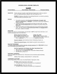 Resume Job Experience Order by Resume Order Of Dates Virtren Com