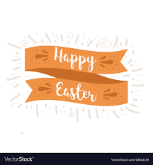 easter ribbon happy easter ribbon royalty free vector image vectorstock