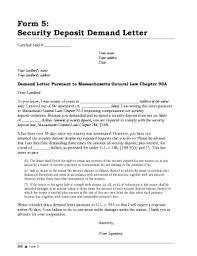 security deposit claim letter fill online printable fillable