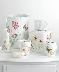 Kids Bathroom Collections Amazon Com Lenox Butterfly Meadow Waste Basket Waste Bins