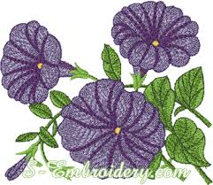 design embroidery flower embroidery 10137 petunia machine embroidery design