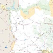 Az City Map Arizona Highway Wall Map Maps Com