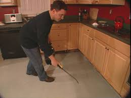 Sandpaper For Concrete Floor by How To Install A Skim Coat For A Concrete Floor How Tos Diy