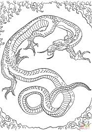 dragon by katsushika hokusai coloring page free printable