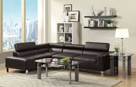 amazon com poundex bokona miter bonded leather 2 piece sectional