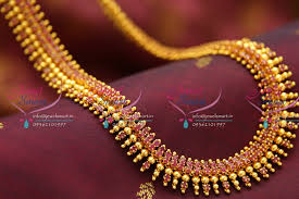 fashion jewelry red necklace images Nl1018 beads design ruby gold plated haram long necklace fashion JPG