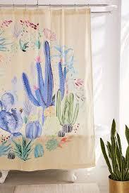 cactus terrarium shower curtain urban outfitters