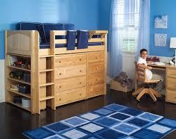 maxtrix mid height loft bed w straight ladder full size