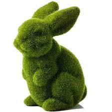 rabbit home decor mercer reid juno moss rabbit standing 11 liked on polyvore