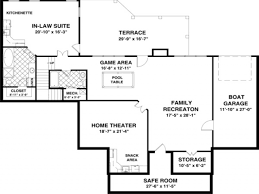 home design house plans with basement walkout floor endearing