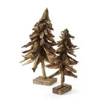 roost driftwood ornaments set of 6 trees
