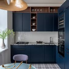 houzz blue kitchen cabinets 75 beautiful blue kitchen with black appliances pictures