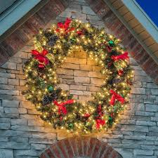 Large Outdoor Christmas Ornaments by Large Christmas Wreath Outdoor Christmas Time Coming