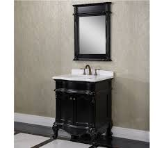 antique wk series 30 inch single sink bathroom vanity matte black
