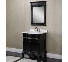 Antique Sinks Antique Wk Series 30 Inch Single Sink Bathroom Vanity Matte Black