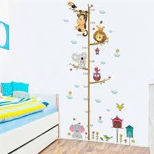 stickers chambre enfants beaux animaux sur branche d arbre croissance tableau stickers