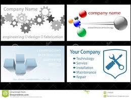 Construction Name Card Design Technology Business Card Designs 4 Up Royalty Free Stock Image