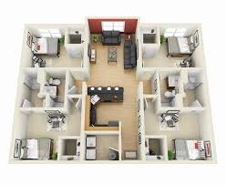 apartments simple 4 bedroom house designs idea housing floor