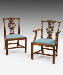 a set of 8 antique georgian chippendale dining chairs classic