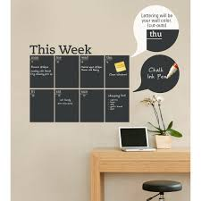 chalkboard wall decal roselawnlutheran simple shapes weekly calendar chalkboard wall decal