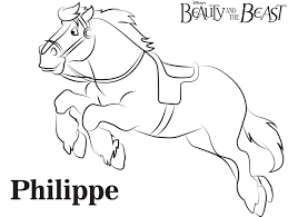 chip beauty and the beast free printable coloring page sheet