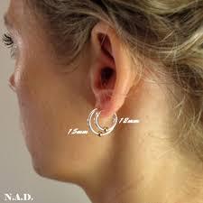 hoop cartilage piercing unisex hoop earrings with bead huggie hoops cartilage piercing