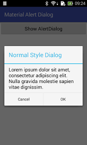 dialog android android tip alertdialog with material design style in pre