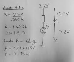 led circuit and resistor recommendations electrical engineering