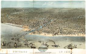 Map Of East Chicago by Ruger U0027s Birdseye Map Of Chicago 1868