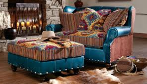 southwestern chairs and ottomans santa fe style chair ottoman western furniture pinterest