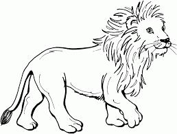 coloring print animals carnivorous animals lion number 86356