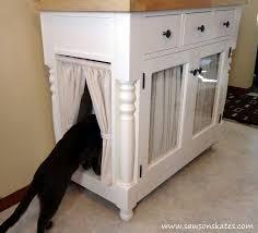 box kitchen cabinets kitty litter cabinet hides ugly litter box hometalk