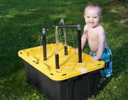 diy sand and water table pvc water table for the kids