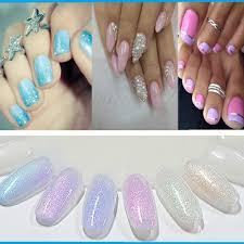 aliexpress com buy art mermaid effect nail gel uv nails glitter