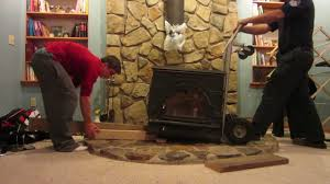 wood stove installation u0026 removal 2 22 12 day 974 youtube