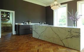 white marble kitchen island simple brown bowl sleek black