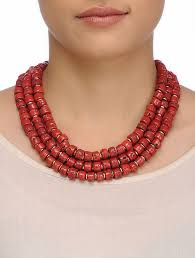 red necklace online images Buy red beaded necklace online at jpg
