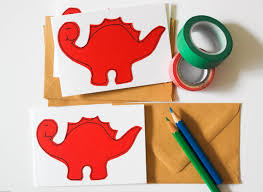 handmade dinosaur greeting card pack by samfiregreetingcards