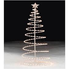trim a home lighted clear spiral tree 6 ft