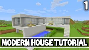 Simple Modern House Minecraft Minecraft How To Make Modern House 1