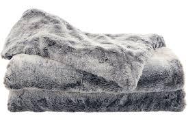 Faux Fur Throw Grey Sheridan Sheridan Millbrook Throw