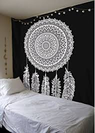 Black And White Lace Comforter Amazon Com Exclusive Dream Catcher Black U0026 White Reversible Duvet
