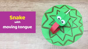 snake with moving tongue simple fun and quick craft for kids