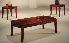 Cherry Coffee Table Cherry Finish Traditional 3pc Coffee Table Set