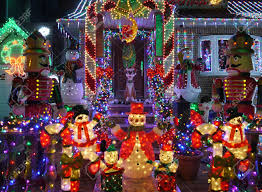 beautiful outdoor christmas decorations on lighted outdoor
