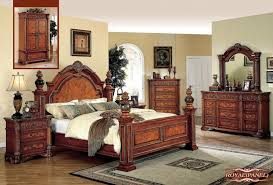 King Bedroom Set Plans Meridian Royal King Panel Bed In Cherry