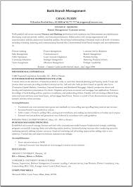 Finance Manager Resume Format Extraordinary Inspiration Banking Resume 5 64 Best Images About